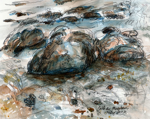 Breton beach, rocks and water