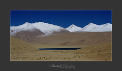 The crowned lake (Amitesh Chandra) Tags: india nature october flickr bangalore september kashmir 2009 ladakh ommanipadmehum snowcappedmountain amiteshchandra increditableindia dewprismphotography humbledbythehimalayas