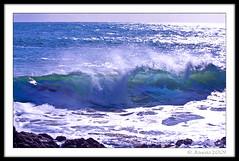 High Tide (JKmedia) Tags: ocean uk blue sea england white west nature water coast rocks cornwall break power natural wind nt south tide wave spray coastal foam translucent nationaltrust breaker hightide froth rollingin kynancecove canoneos40d 15challengeswinner jkmedia backspray