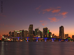 Another beautiful evening in Miami (iCamPix.Net) Tags: sunset canon miami miamibeach 9515 miamisunset markiii1ds