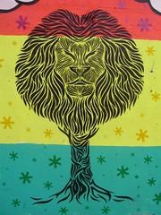 "Stencil Roots (Roots ""RTS"") Tags: house art colors cores stencil mural arte roots graff reggae graffit decorao rasta"