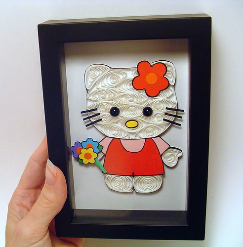 Hello Kitty Paper Quilling Collage (kitty close up)
