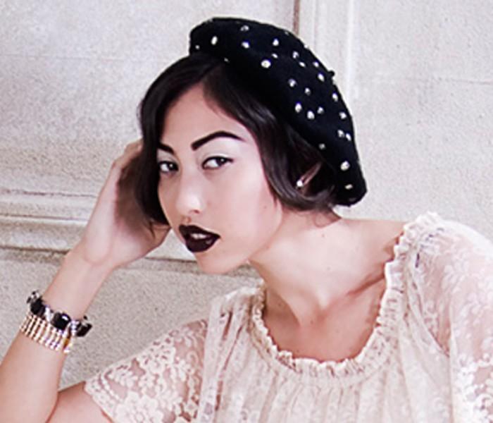 DIY fashion MaisonDePeanutLeigh studded beret