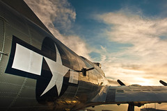 """""""Liberty Belle"""" at Sunset (Chris Kenworthy) Tags: newmexico plane canon airplane airport albuquerque b17 flyingfortress warbird doubleeagle libertybelle libertyfoundation"""