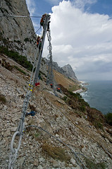 Catch Fence Installation (Steve Tucker Photography) Tags: cliff mountain rock work fence climb rope climbing installation catch access hillside gibraltar install height abseil stabilisation