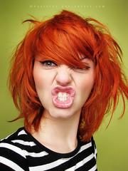 Orange girl II (basistka) Tags: woman girl hair expression poland facial ogange baistka