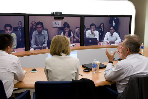 Students' Mentors Meet Over TelePresence