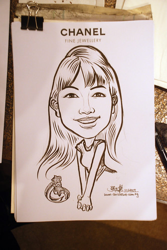 Caricature live sketching for Chanel Day 2 - 4