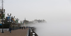 Foggy day 1/4 (Brother O'Mara) Tags: fog river louisiana neworleans foggy frenchquarter mississippiriver moonwalk woldenbergpark