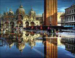 Venice HDR (morphyne) Tags: venice reflection vivid venezia riflessi hdr acquaalta piazzasanmarco pentaxk10d acquaaltaavenezia colorphotoaward geometrictonalvision justpentax mirrorser pentaxart