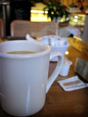 coffee at Nate's Diner