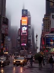Foggy Times Square (hobbitbrain) Tags: nyc newyorkcity usa ny newyork fog flickr unitedstates manhattan 100v10f explore timessquare estrellas explored abigfave platinumphoto superaplus aplusphoto lovelycity platinumheartaward quarzoespecial 100commentgroup bestofmywinners flickraward5