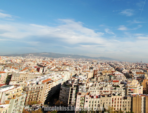 view from atop sagrada familia