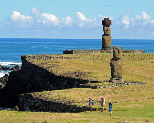 Tahai Moai on Easter Island