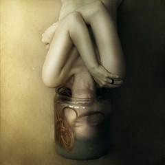 fetus (brookeshaden) Tags: selfportrait water blog milk trapped stuck upsidedown fear jar fetus specimen plunge brookeshaden texturesbylesbrumes