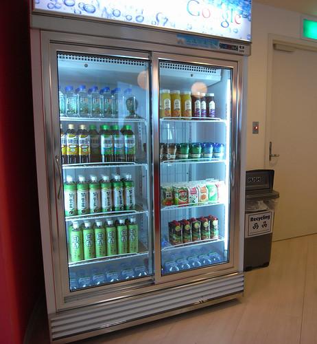 Google Taiwan的飲料櫃