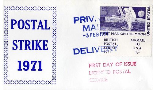 APOLLO 11 / FDC 1971 GREVE GRANDE-BRETAGNE