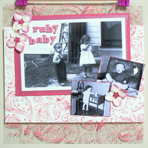 Scrapbooking Page: Ruby Baby