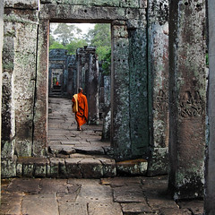 seems like heaven (marin.tomic) Tags: old travel orange stone wall asian temple ancient nikon asia cambodge cambodia kambodscha southeastasia walk religion monk buddhism angkorwat explore tropical siemreap angkor gettyimages bayon d40