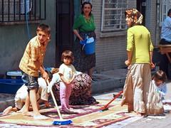 Washing day (Jennifer Hattam) Tags: people kids turkey carpet türkiye istanbul washing