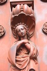 beguinage_porte_principale_detail_6 (saigneurdeguerre) Tags: brussels church europa europe catholic belgium belgique belgie iglesia bruxelles ponte igreja baroque antonio bguinage brssel brussel belgica glise bruxelas kerk belgien baroc catholique