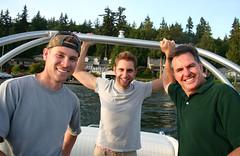 Preston, Sander, and David (dkjd) Tags: david preston sander familylakewhatcom4thofjulyboatmaeflowersummer2009washington