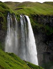Seljalandsfoss (Inga D. Sig) Tags: waterfall iceland islandia thumbsup seljalandsfoss ísland twothumbsup bigmomma olympuse500 ingadsig© tuw094 thumpwrestling
