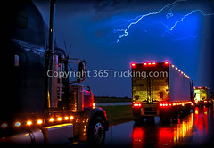 0_truck_072909_1 (365Trucking) Tags: light moon tractor storm motion rain weather night clouds truck reflections effects photography photo big highway image fireworks photos shots trucker scenic trails images semi special professional commercial rig transportation operators vehicle driver wheeler trucks lightning trailer rainbows 18 shipping trailers trucking owner truckers independents