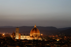 The Duomo at night (Mohul) Tags: travel italy canon florence europe campanile tuscany firenze sanlorenzo duomo arno ari brunelleschi santacroce piazzadellasignoria pontevechhio eos5d palazzovechhio piazzellemichelangelo mohul