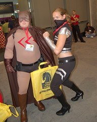 Comic Con 09: Catman and Scandal (earthdog) Tags: logo costume mask sandiego cosplay dccomics villain scandal comiccon 2009 catman supervillain secretsix sdcci scandalsavage comiccon09 upcoming:event=958403 upcoming:event=1494437 needsflickrpeople needscamera needslens