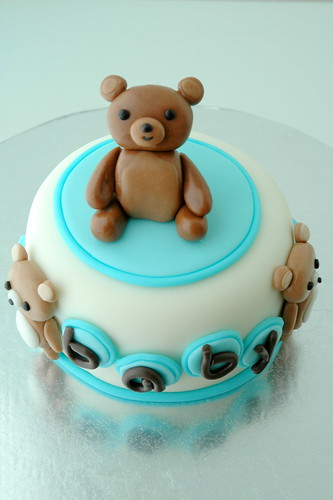 Teddy Bear Baby Shower Mini Cake