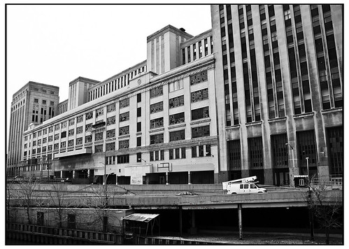 United States Post Office Chicago River view - Agfa Scala