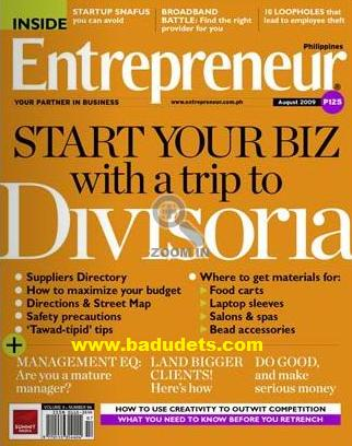 Entrepreneur Magazine August issue