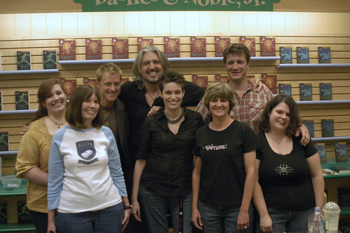 KNTR Volunteers with Alan Tudyk, PJ Haarsma and Nathan Fillion