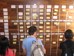 Photo: wall of deliverables