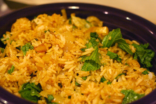 Mustard Greens Fried Rice