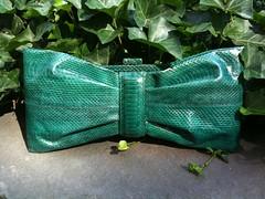Snakeskin clutch