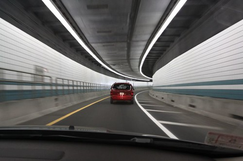 Tunnel on the way to Boston Int'l Logan Airport.