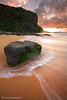 Bungan Beach, Sydney, Australia (-yury-) Tags: ocean sea seascape beach water clouds sunrise flow sand weed sydney wave australia nsw landscpae bungan abigfave bunganbeach northernbeaqches