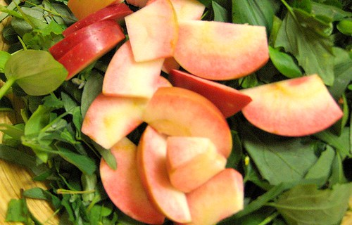 Foraged pink apples