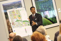 Rep. Cleaver presents the Green Impact Zone to his constituents (by: Mid-America Regional Council)