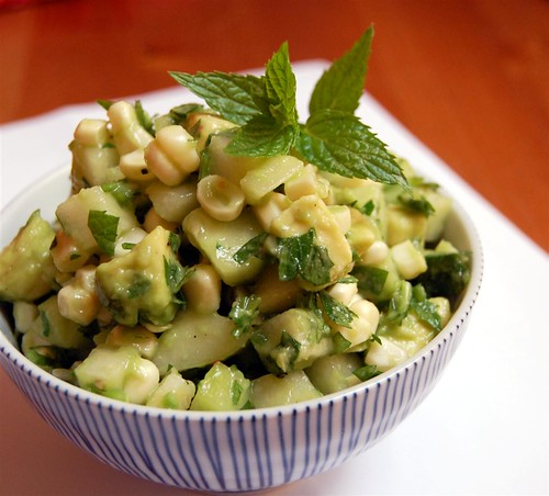Asian pear corn salsa