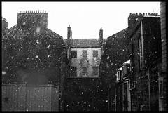 Depressing Urban Winter Wonderland (.drew (Andrew Kelly)) Tags: city winter urban snow storm film canon scotland fuji drew aberdeen blizzard fujineopan1600 canoneos33 andrerwkelly