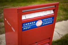 Canada Post  Postes Canada (qousqous) Tags: red mailbox saturated bright canonef50mmf18 postbox canadapost ef50mmf18 postescanada niftyfifty