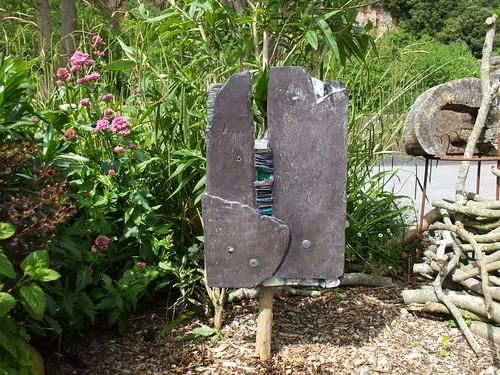 Revealling II: wall art, garden