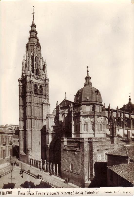 Catedral de Toledo a inicios del siglo XX. Foto Compañy