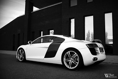 Audi R8 (Bart Willemstein) Tags: auto bw white black building eye cars netherlands car architecture big nikon shoot photoshoot d70 d70s nederland wideangle automotive autos nikkor audi hoofddorp r8 bartw autogespot bartwillemsteinnl carsshoot