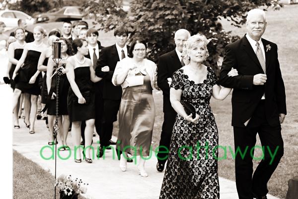 bridal party sepia