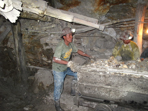 Potosi miners at work