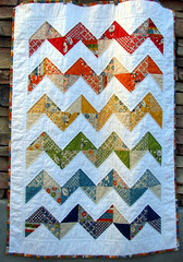 finished! (Erin - TwoMoreSeconds) Tags: modern rainbow quilt moda quilting imadethis recess zigzag charmpack machinequilted